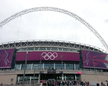 The famous Wembley arch